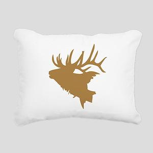 Brown Elk Head Rectangular Canvas Pillow