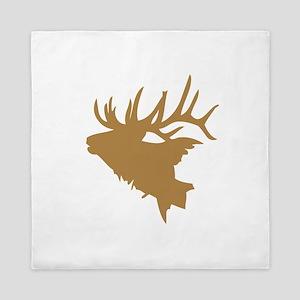 Brown Elk Head Queen Duvet
