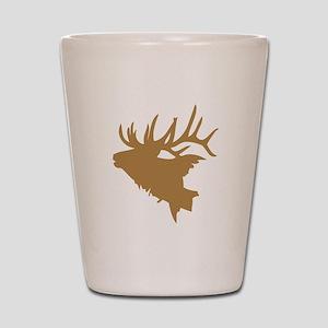 Brown Elk Head Shot Glass