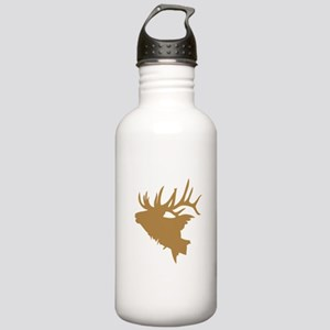 Brown Elk Head Sports Water Bottle