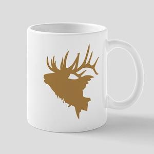 Brown Elk Head Mugs