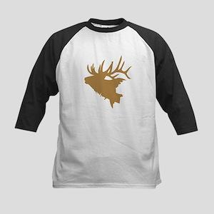 Brown Elk Head Baseball Jersey