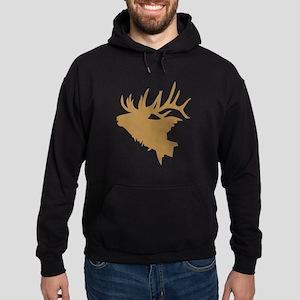 Brown Elk Head Hoody