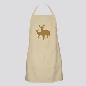 Brown Buck And Doe Apron