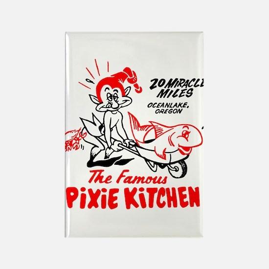 Pixie Kitchen Fish in Wheelbarrow Rectangle Magnet