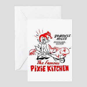 Pixie Kitchen Fish in Wheelbarrow Greeting Card