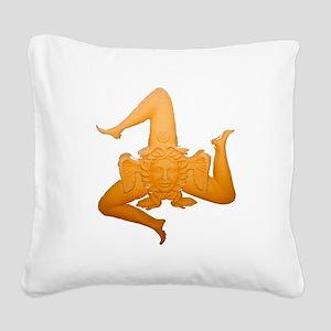 Vintage Trinacria Square Canvas Pillow