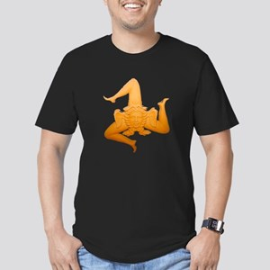 Vintage Trinacria Men's Fitted T-Shirt (dark)