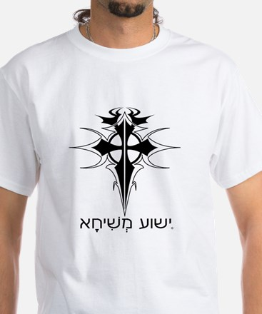 Tatoo Cross with Aramaic Text Jesus T-Shirt