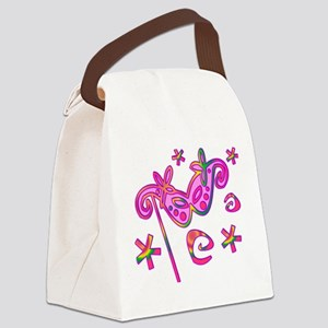 Colorful Theatre Mask Canvas Lunch Bag