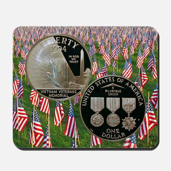Vietnam Veterans Memorial Dollar Mousepad
