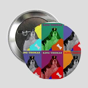 """King Charles Spaniel King Thomas 2.25"""" Button"""