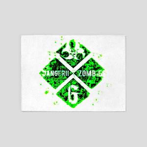 Zombie green toxic 5'x7'Area Rug