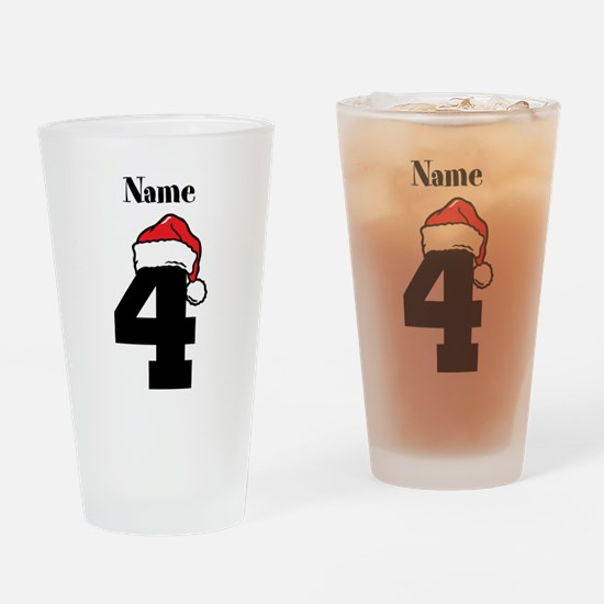 Christmas 4 Drinking Glass