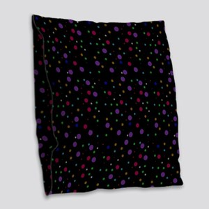 Retro Polka Dots Burlap Throw Pillow