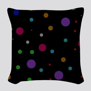 Retro Polka Dots Woven Throw Pillow