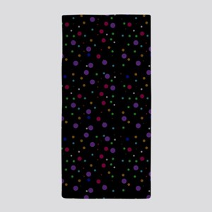 Retro Polka Dots Beach Towel