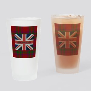 Obsessenach - Red Plaid border Drinking Glass