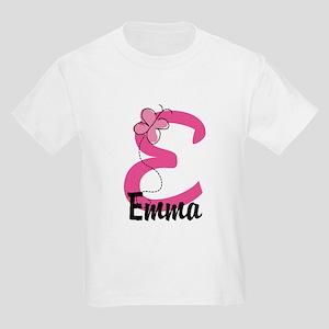 Personalized Monogram Letter E Kids Light T-Shirt