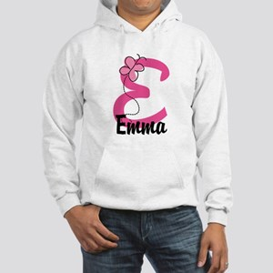 Personalized Monogram Letter E Hooded Sweatshirt
