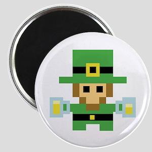 8 Bit St Patricks Day Leprechaun Magnets