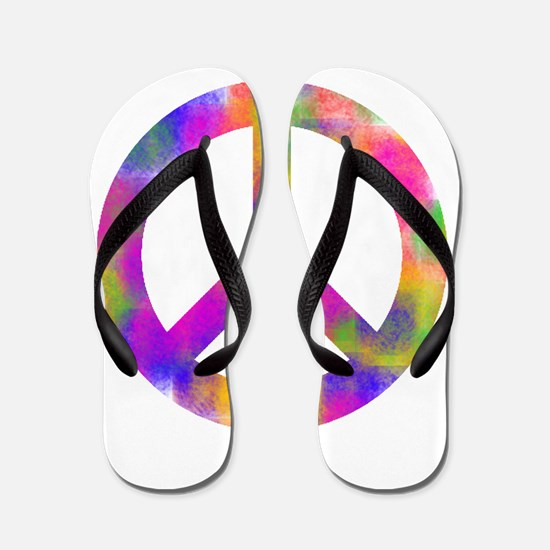 Unique Peace Flip Flops