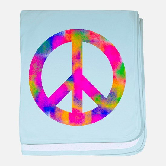 Funny Peace baby blanket