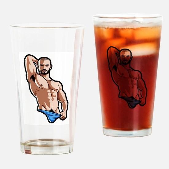 man Drinking Glass