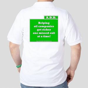 A.D.D. Exit (backprint) Golf Shirt