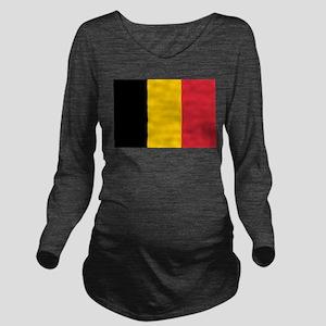 Belgium Long Sleeve Maternity T-Shirt