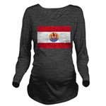 French Polynesia Long Sleeve Maternity T-Shirt