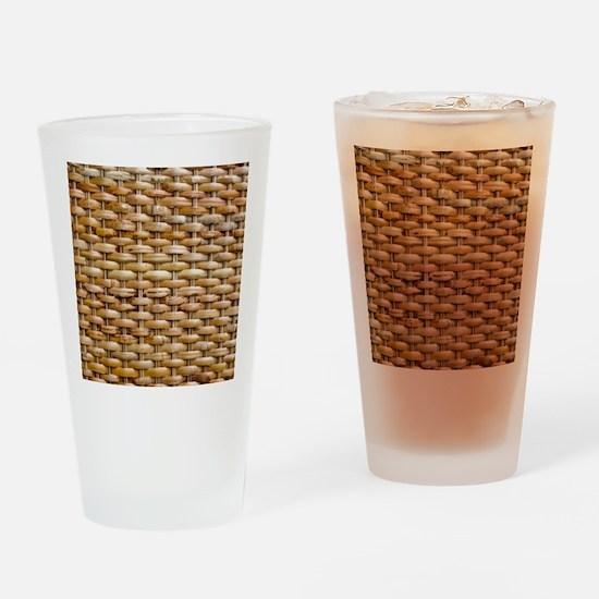 Woven Wicker Basket Drinking Glass