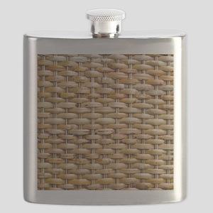 Woven Wicker Basket Flask