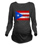 Puerto Rico Long Sleeve Maternity T-Shirt