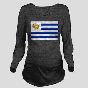 Uruguay Long Sleeve Maternity T-Shirt