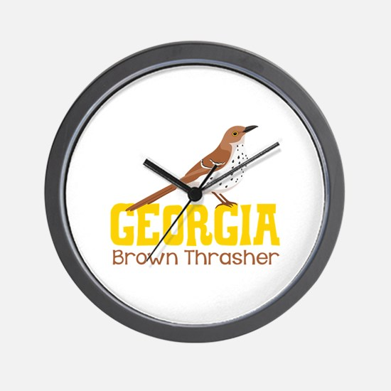 GEORIGIA Brown Thrasher Wall Clock