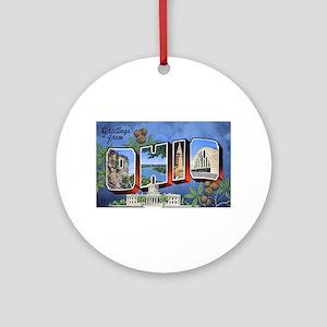 Ohio Greetings Ornament (Round)