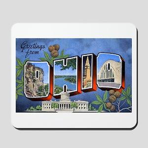 Ohio Greetings Mousepad