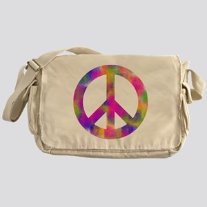 Colorful Peace Sign Messenger Bag