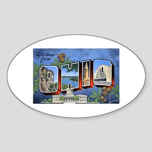 Ohio Greetings Oval Sticker