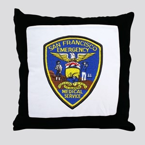 San Francisco EMS Throw Pillow