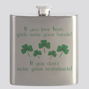 Raise Your Hands for Irish Girls Flask