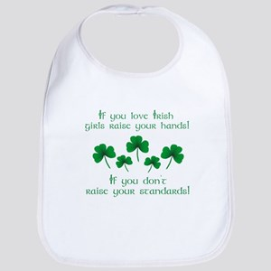 Raise Your Hands for Irish Girls Bib