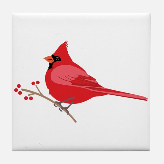 Northern Cardinal Tile Coaster