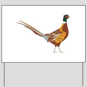 Ring-Necked Pheasant Yard Sign