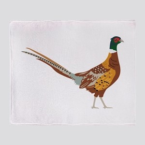 Ring-Necked Pheasant Throw Blanket