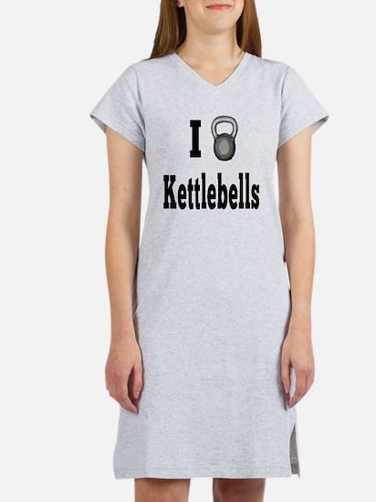 I Love Kettlebells Women's Nightshirt