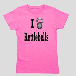 I Love Kettlebells Girl's Tee