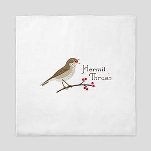 Hermit Thrush Queen Duvet