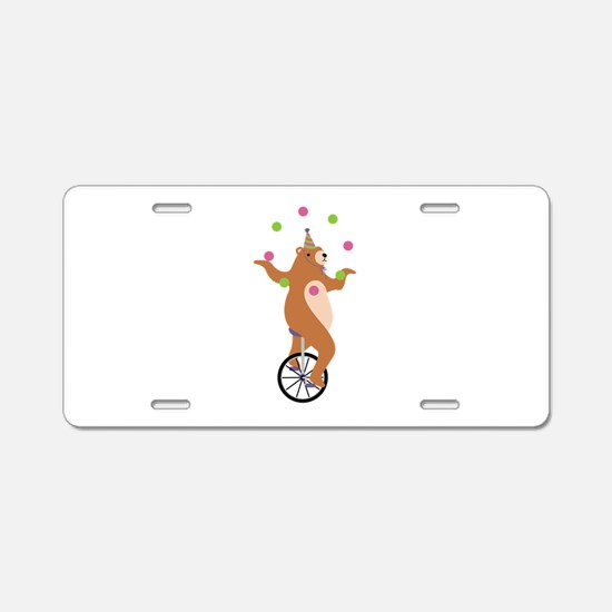 Juggling Bear Aluminum License Plate
